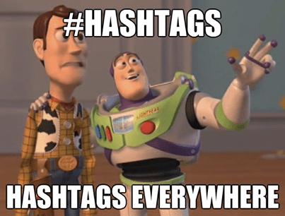hashtags everywhere