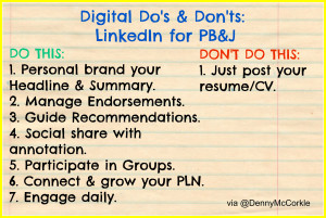 Dos & Donts When Using LinkedIn for Personal Branding & Job Search image Dos Donts LinkedIn 2 300x201