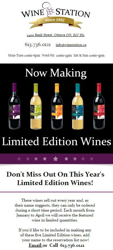 Product Announcement - Wine Station