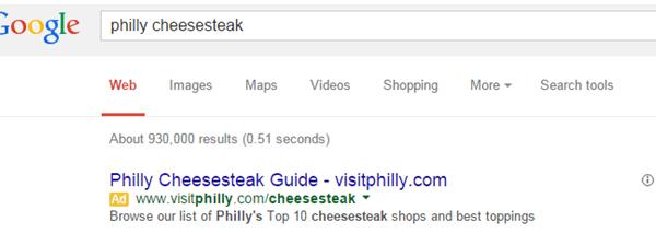 Philly Cheesesteak Geotargeting