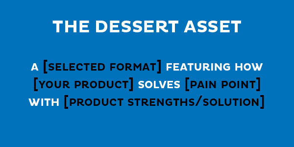 dessert formula for content pillar approach