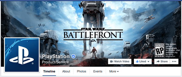 playstation facebook page