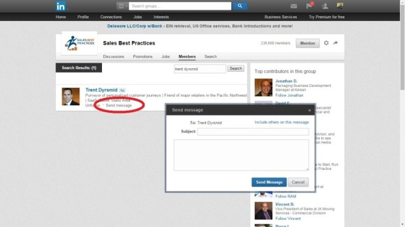 linkedin lead generation tips - messaging capabiltiy