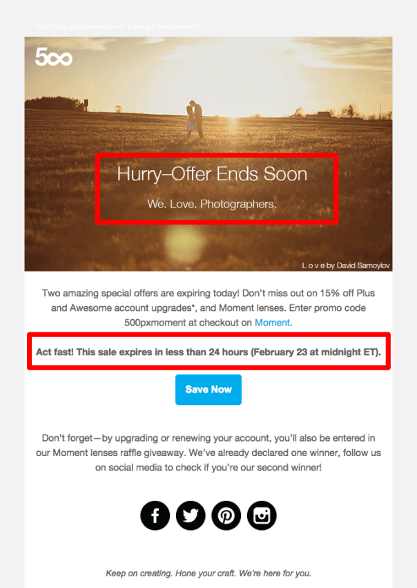 creating urgency in onboarding email