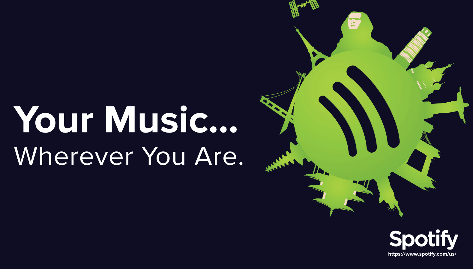 7 spotify simple value proposition graphic banner example