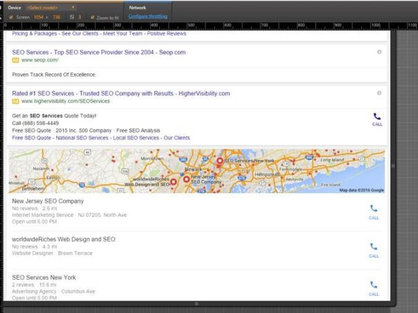 Hit refresh, and presto! Your search location will show up in the SERP.