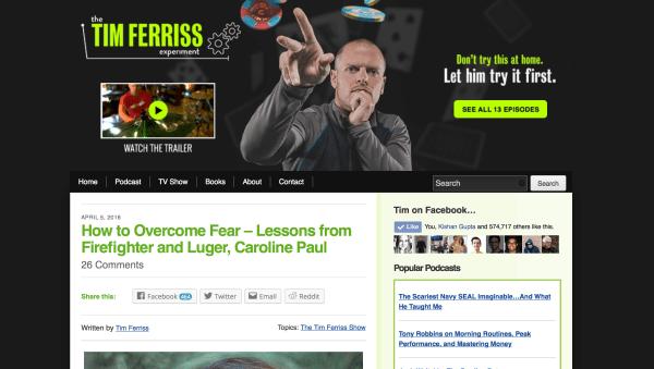 Blog of Tim Ferriss