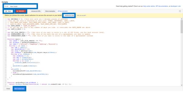 run adwords scripts