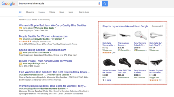Google Shopping - Womens Bike Saddle