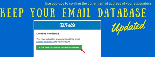 Allow your email subscribers to update their email addresses