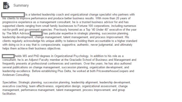 Summary Image - CEO Coach - 20 yrs exp