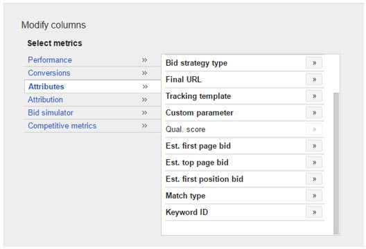 modifying keyword columns