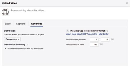 facebook upload 360 video
