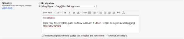 write call to action in your email signature