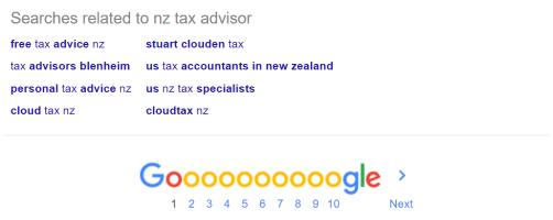 LSI keywords for NZ Tax Advisor