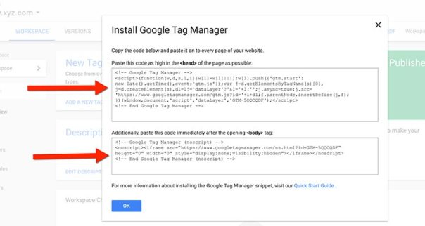 google-tag-manager-code How To Install Google Tag Manager On WordPress