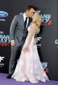 Chris Pratt and Anna Faris at Guardians of the Galaxy Vol 2 premiere