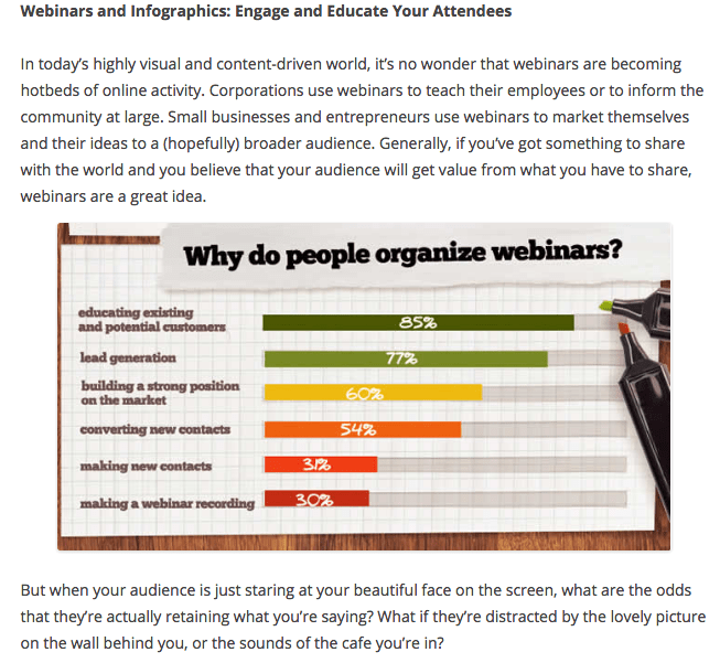 Webinars and Infographics – Engage and Educate