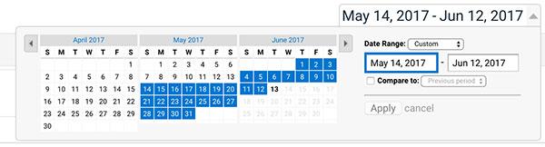 Set Date Range
