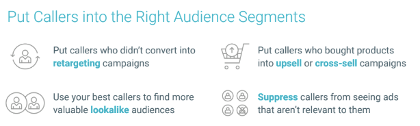 how to put callers into audience segments