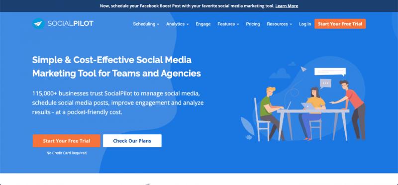Capture d'écran de SocialPilot