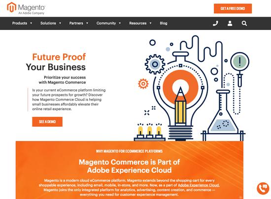Magento homepage 2019