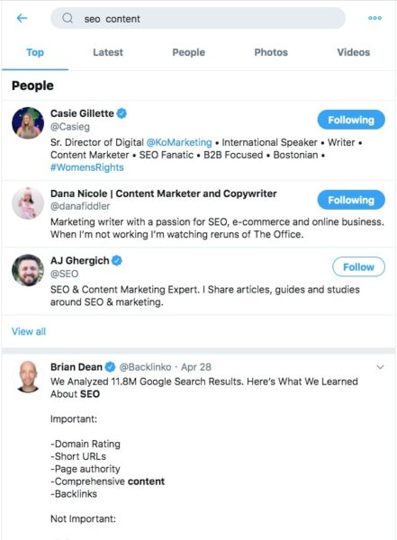 Influencer Outreach by Twitter to boost SEO