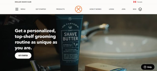 Dollar Shave Club eCommerce example