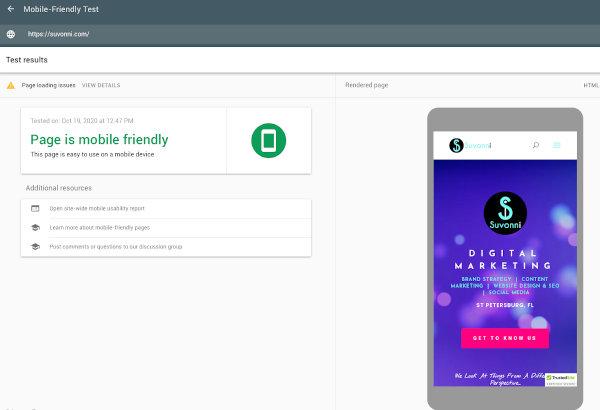 Test Google Mobile-Friendly | Améliorez votre référencement | Marketing numérique Suvonni
