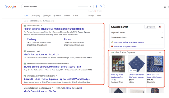 This is an example of how to use Google Ads to advertise on Google Search.