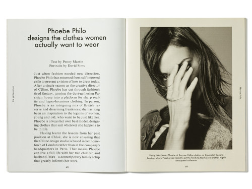 A spread from the first issue of The Gentlewoman | Source: The Gentlewoman
