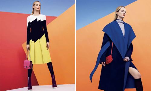 Daria Strokous by Nathaniel Goldberg, styled by Tom Van Dorpe | Source: Harper's Bazaar Sept 2014