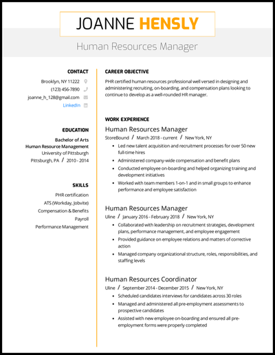 .docx (microsoft word) · file name: 8 Human Resources Hr Resume Examples For 2021