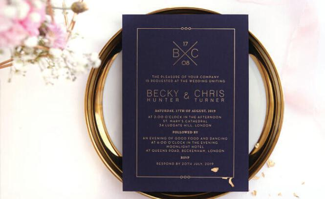 Wedding Invites Embossed Laser Cut