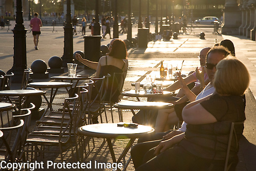 Terrace of Cafe Marly, Paris