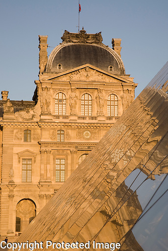 Louvre Art Museum with Pyramid of Pei, Paris, France