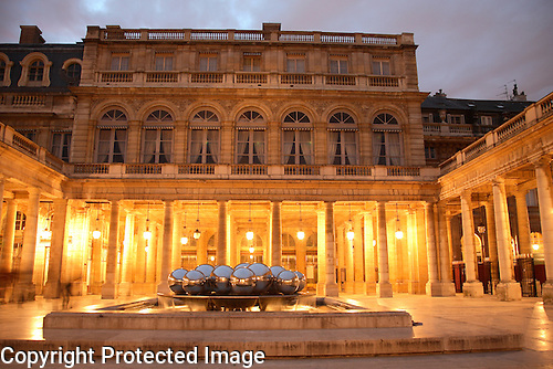Palais Royal illuminated at night, Paris, France