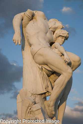 Sculpture in the Jardin des Tuileries, Paris, France
