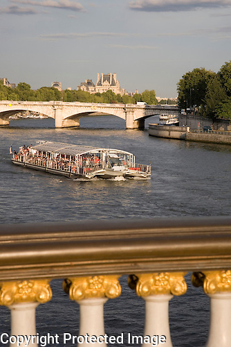 Tourist Boat on the River Seine, Paris