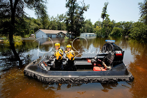 Photo of the hoovercraft used by First Response responders. Lowe's donations helped buy the vehicle.