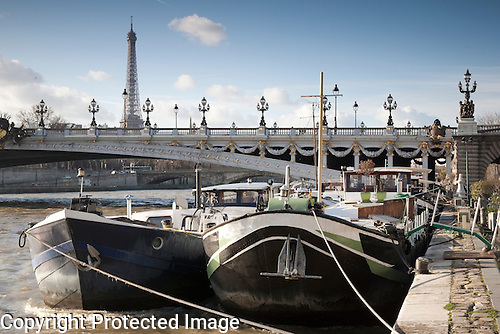 River Seine with Pont Alexandre III Bridge, Paris