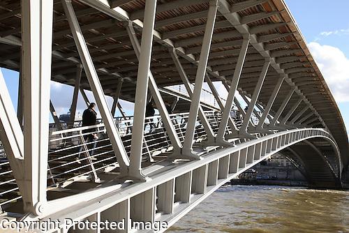 Solferino Bridge, River Seine, Paris, France