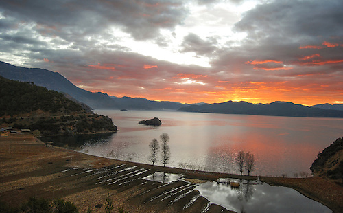 Lakeside View Of Lugu Lake