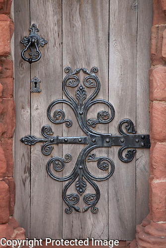 St Magnus Cathedral Door in Kirkwall, Orkney Islands, Scotland