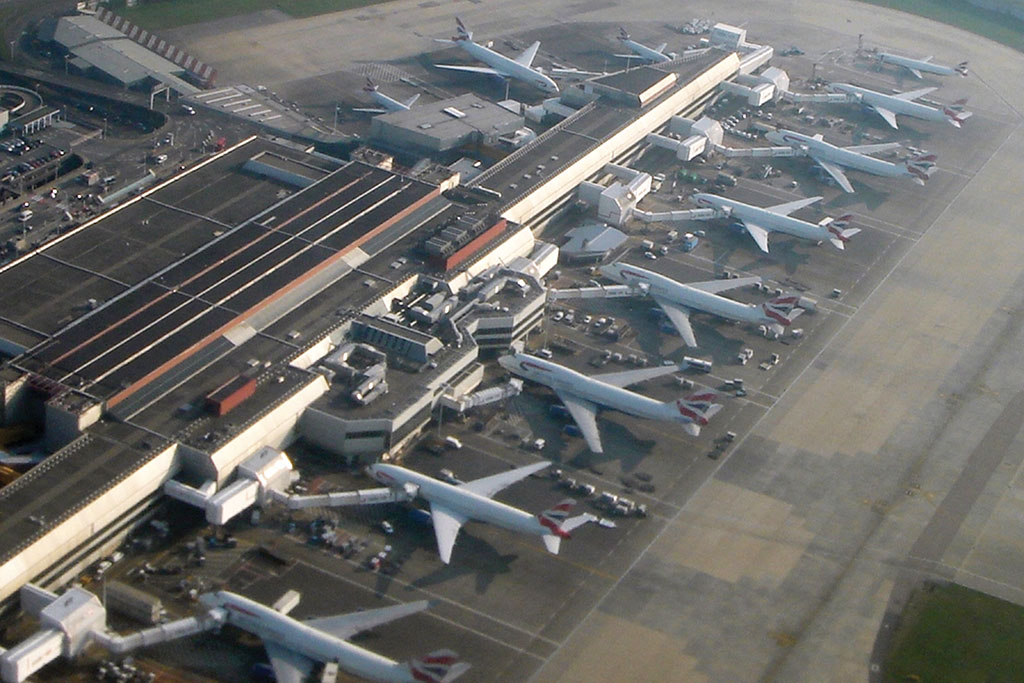 Heathrow CROPPED from above airport planes aviation