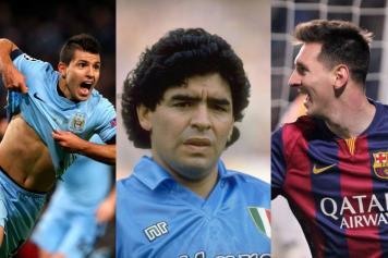 Aguero, Maradona, Messi