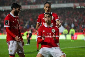 Grimaldo Benfica esultanza