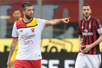 Iemmello Benevento esulta Bonucci Milan
