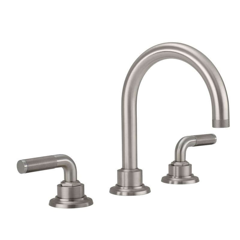 8 widespread lavatory faucet knurled