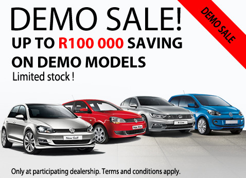 Save up tp R100 000 on Volkswagen Demo models